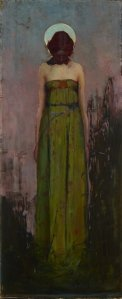 Sidney Long, Sadder Than a Single Star...(1899), 93 x 39 cm, oil on canvas.