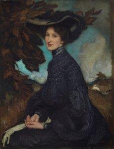 George W. Lambert, Miss Thea Proctor (1903), 90 x 70 cm, oil on canvas.