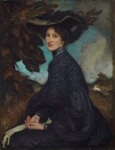 George W. Lambert, Miss Thea Proctor (1903), 90 x 70 cm, oil on canvas.